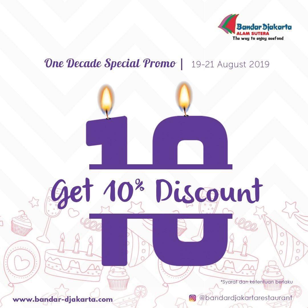 BANDAR DJAKARTA Promo Get 10% Discount