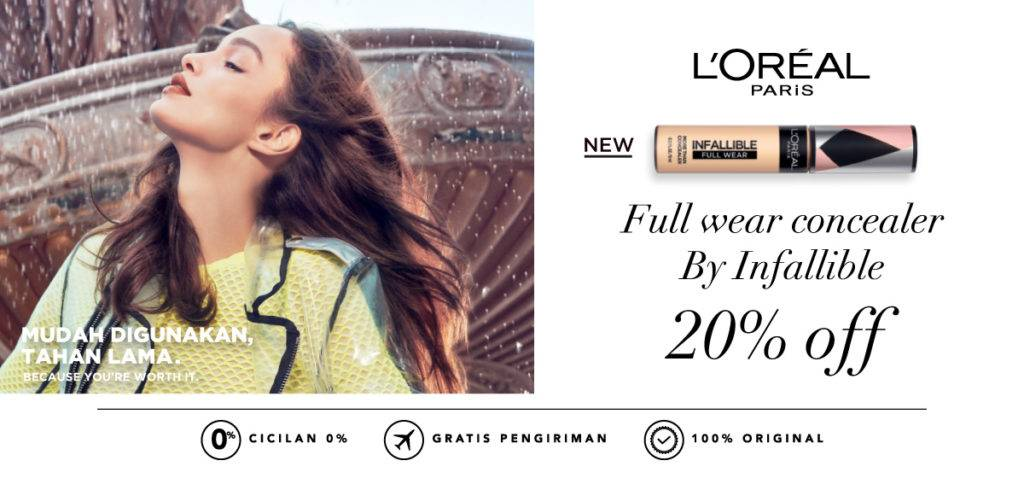 BLIBLI.COM Promo LOREAL Paris Full wear concealer By Infallible Disc. 20% Off!