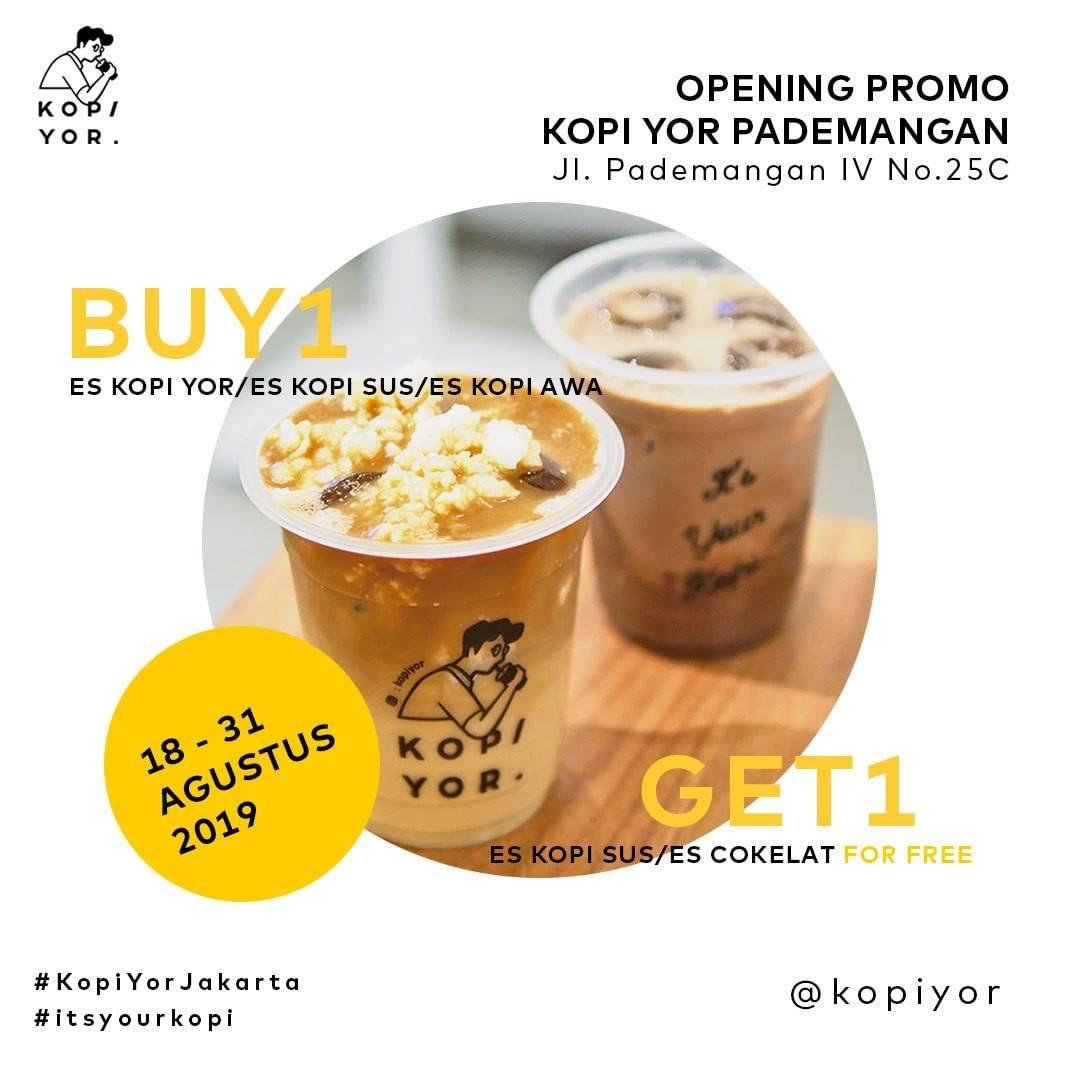Diskon KOPIYOR Pademangan Opening Promo Buy 1 Get 1* Free