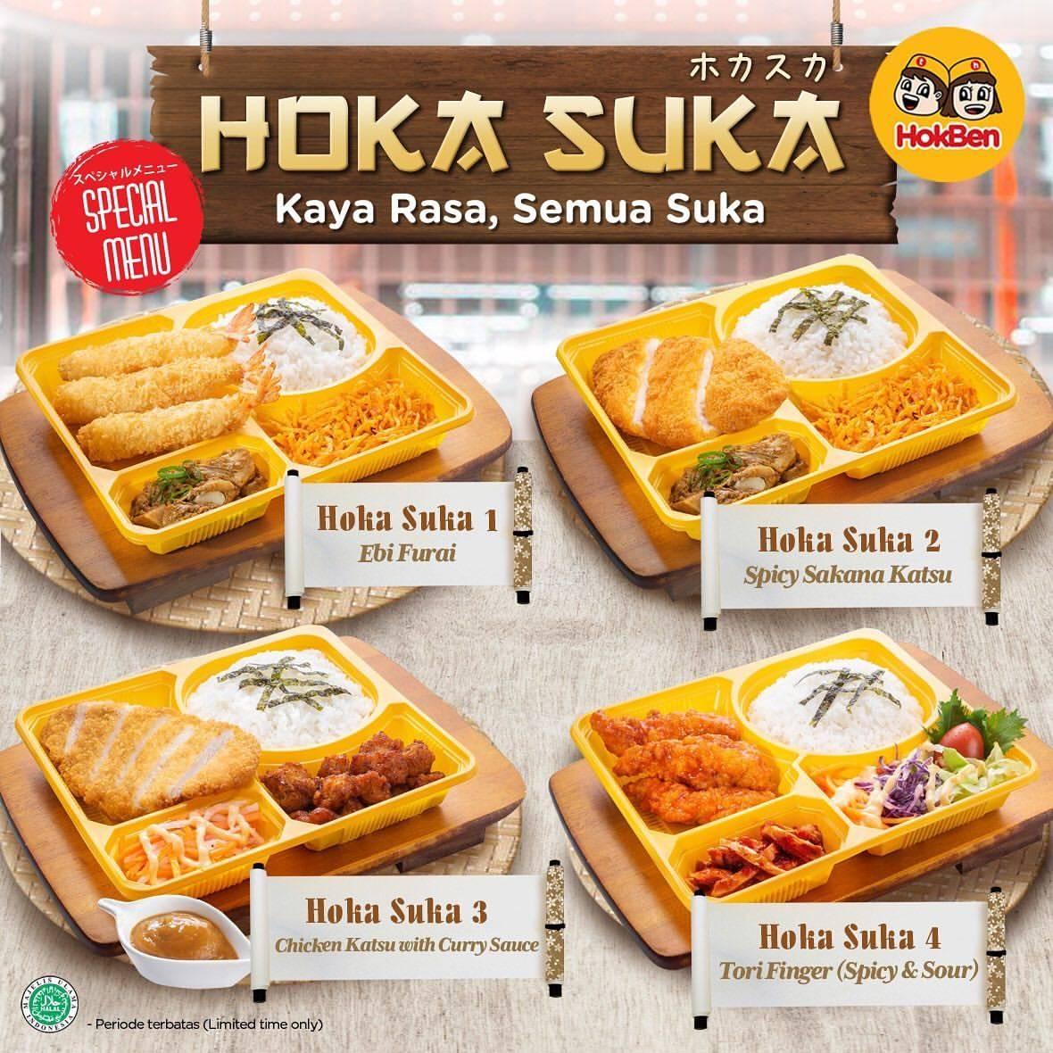 HOKBEN Promo HOKA SUKA TASTE of ASIA, Harga mulai Rp.52.000