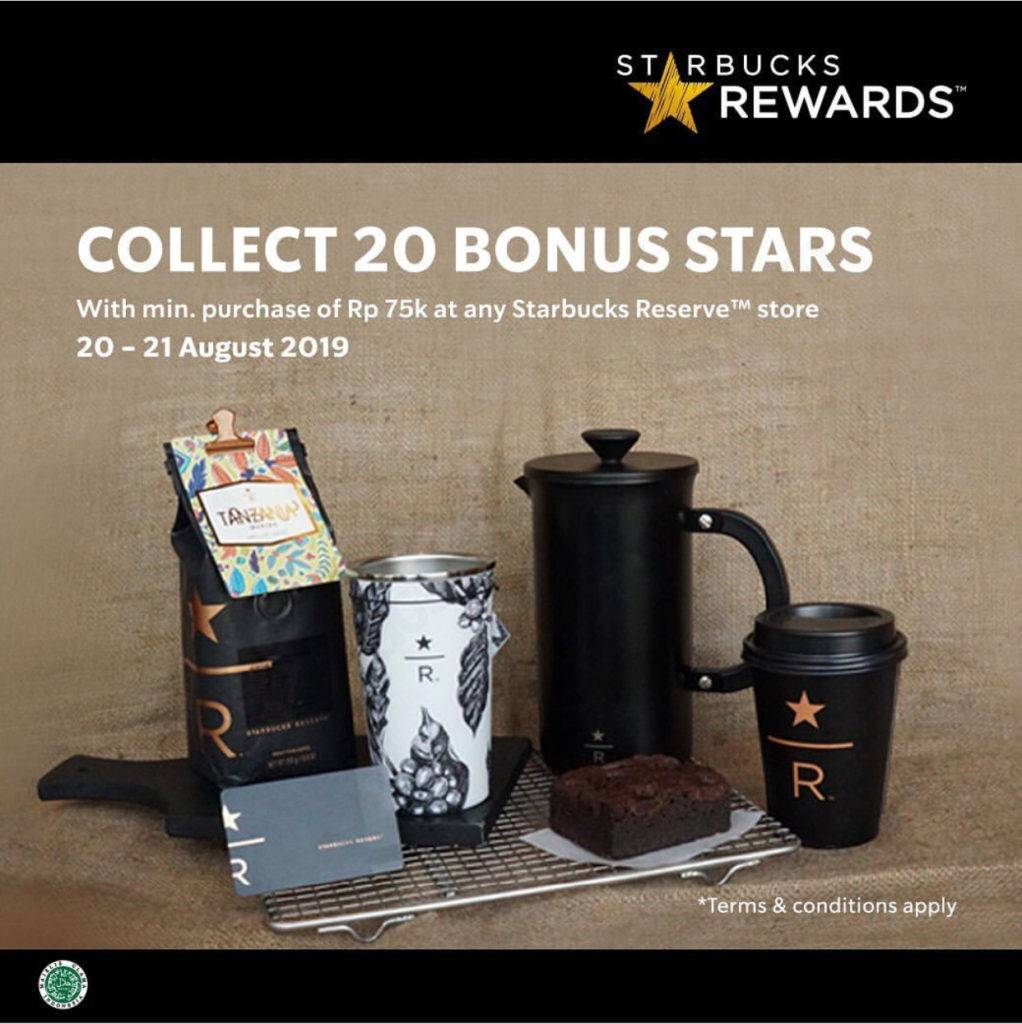 STARBUCKS REWARDS Promo Bonus 20 Stars