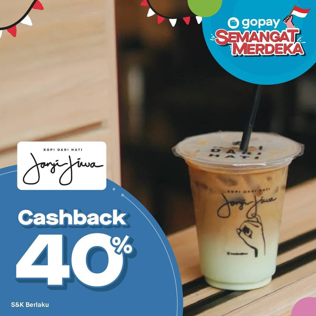 Diskon KOPI JANJI JIWA Promo Cashback 40% dengan GOPAY