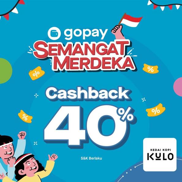 KEDAI KOPI KULO Promo CASHBACK 40% dengan GOPAY