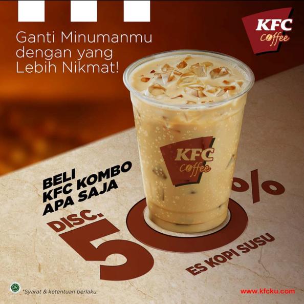 KFC Promo Beli KFC Kombo Diskon 50% Es Kopi Susu*