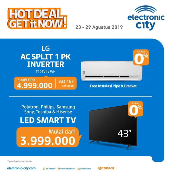 ELECTRONIC CITY HOT DEALS periode 23-29 Agustus 2019