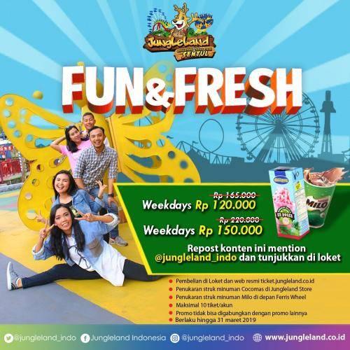 Diskon Jungleland Fun & Fresh, Harga Spesial Tiket Masuk