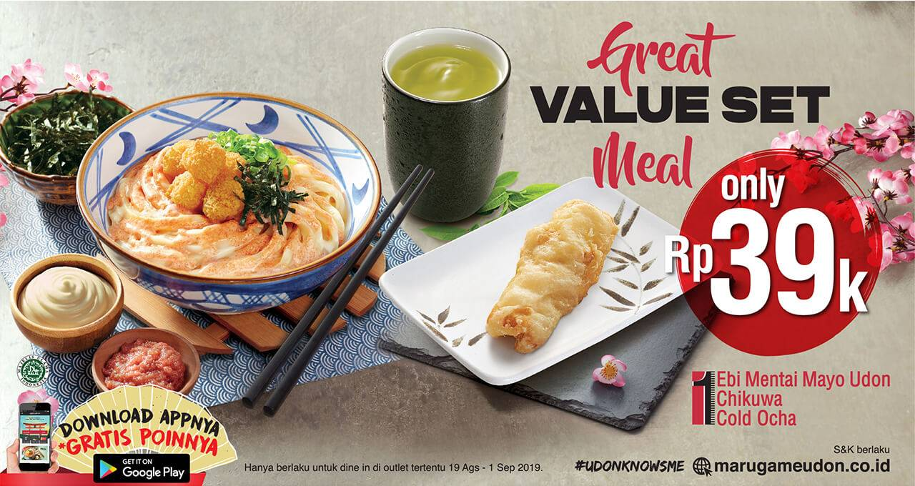 Marugame Udon Promo GREAT VALUE SET MEAL Hanya Rp. 39.000 saja