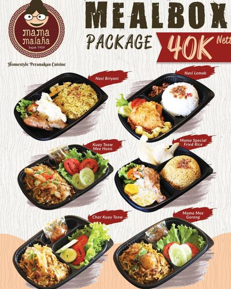 Mama Malaka Promo Mealbox Package Only 40K Nett