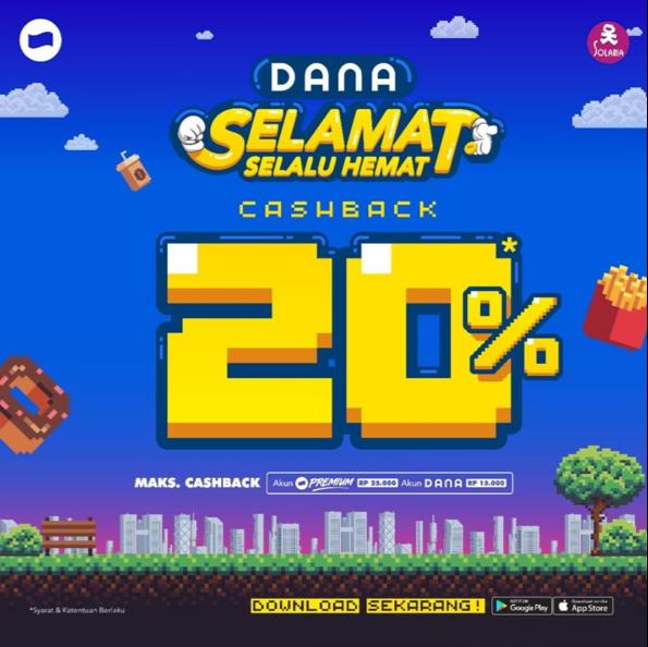 Diskon Solaria Promo Cashback 20% untuk transaksi dengan DANA