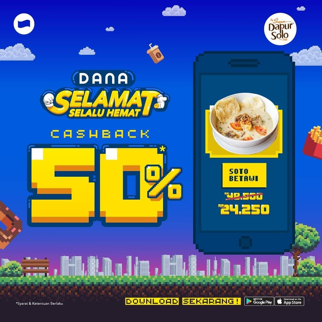DAPUR SOLO Promo CASHBACK 50% dengan DANA