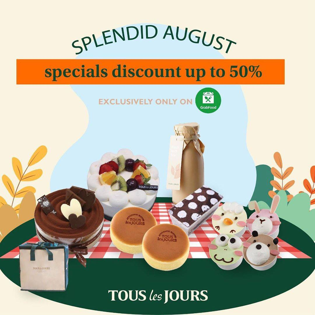 TOUS LES JOURS Promo SPECIAL DISCOUNT up to 50% via GRABFOOD