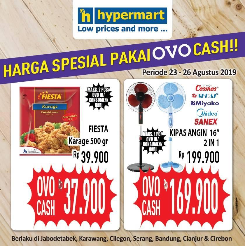 Diskon HYPERMART Promo HARGA SPESIAL pakai OVO CASH
