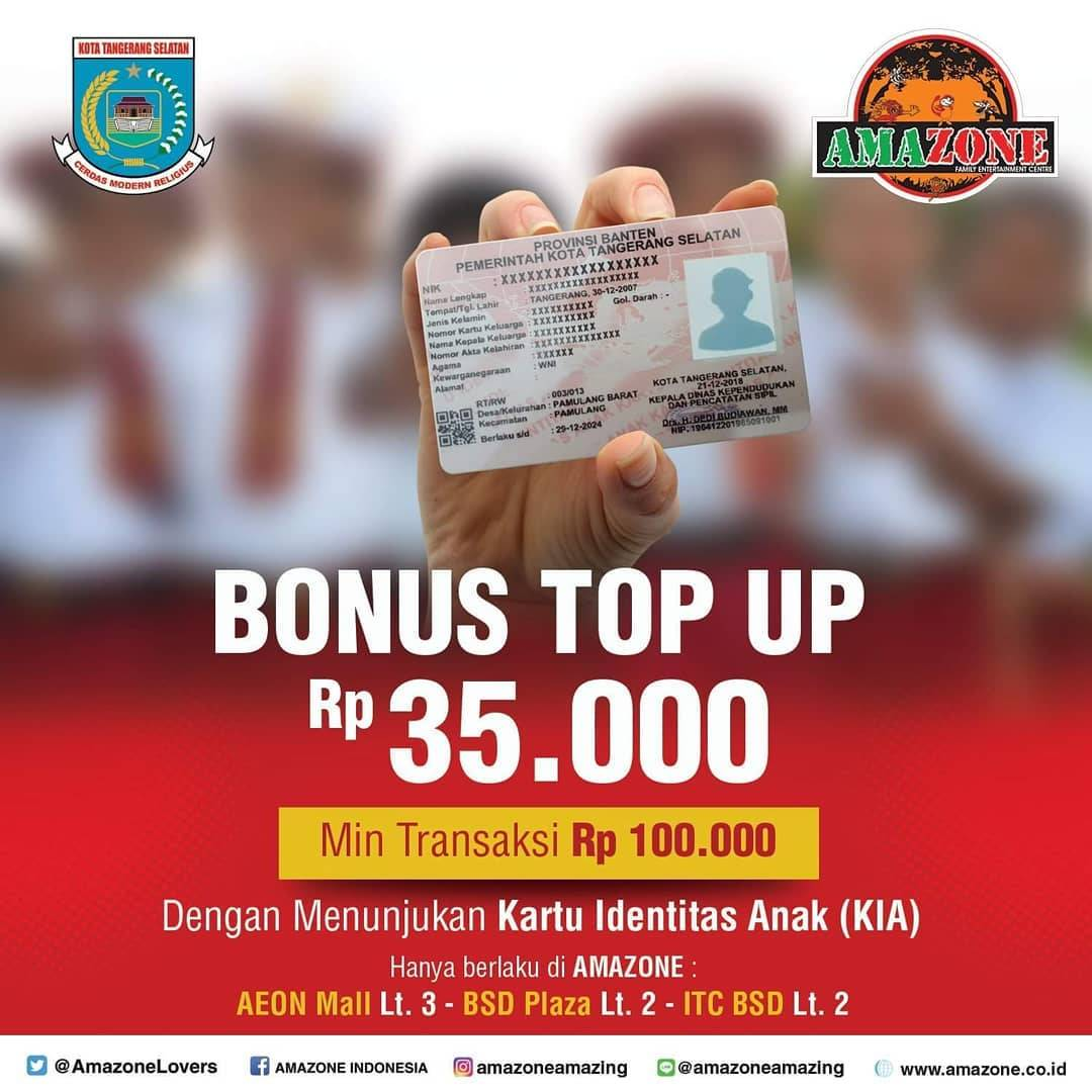 AMAZONE INDONESIA Promo BONUS Top Up Rp. 35.000
