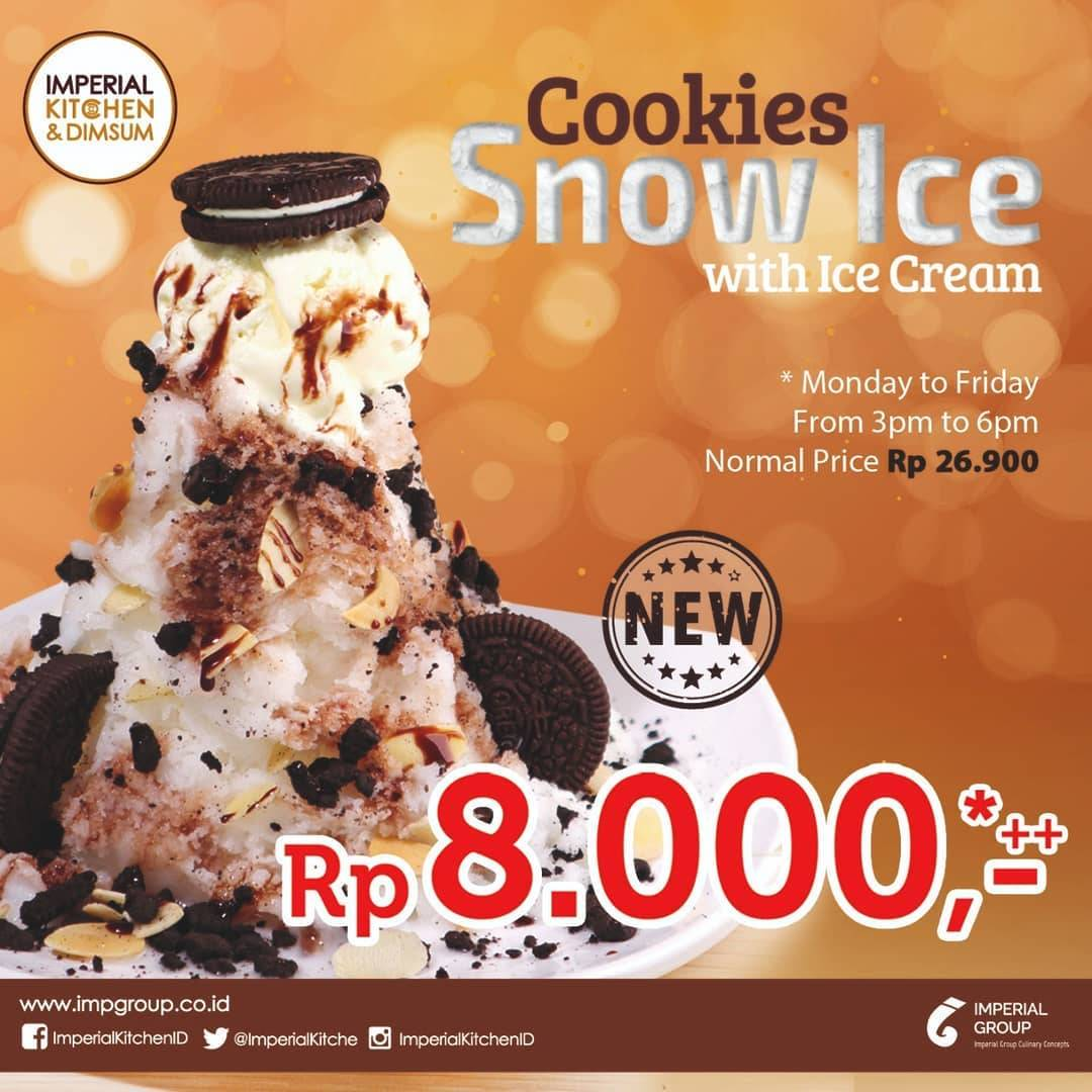 Imperial Kitchen & Dimsum Promo Cookies Snow Ice Hanya Rp 8.000*