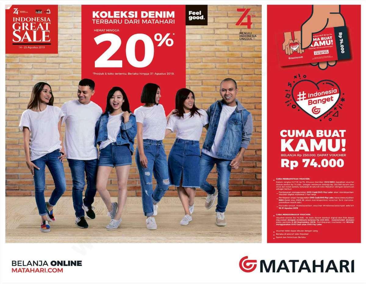 Diskon MATAHARI Department Store DENIM FAIR, Koleksi Denim Terbaru Hemat hingga 20%