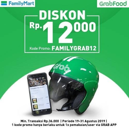 Diskon FamilyMart Promo DISKON Rp. 12.000 dengan minimal transaksi Rp. 36.000