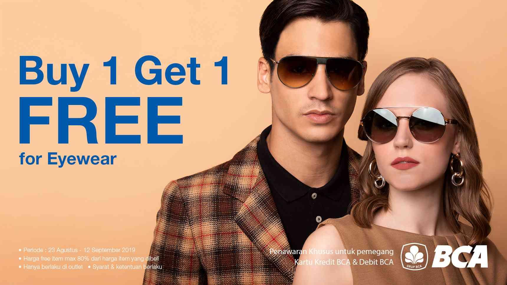 Optik Melawai Promo BUY 1 GET 1 FREE for EYEWEAR dengan KARTU DEBIT dan KARTU KREDIT BCA