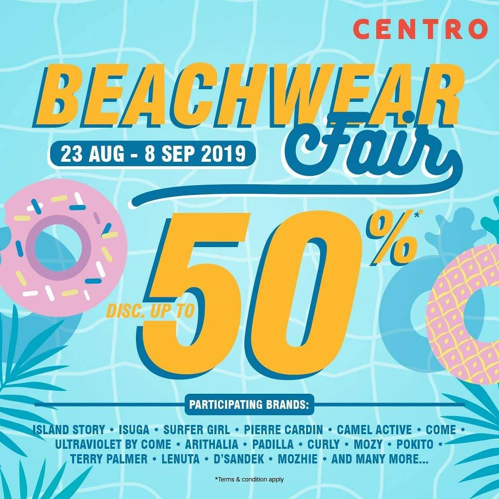 CENTRO BEACH WEAR FAIR, DISCOUNT up to 50% off