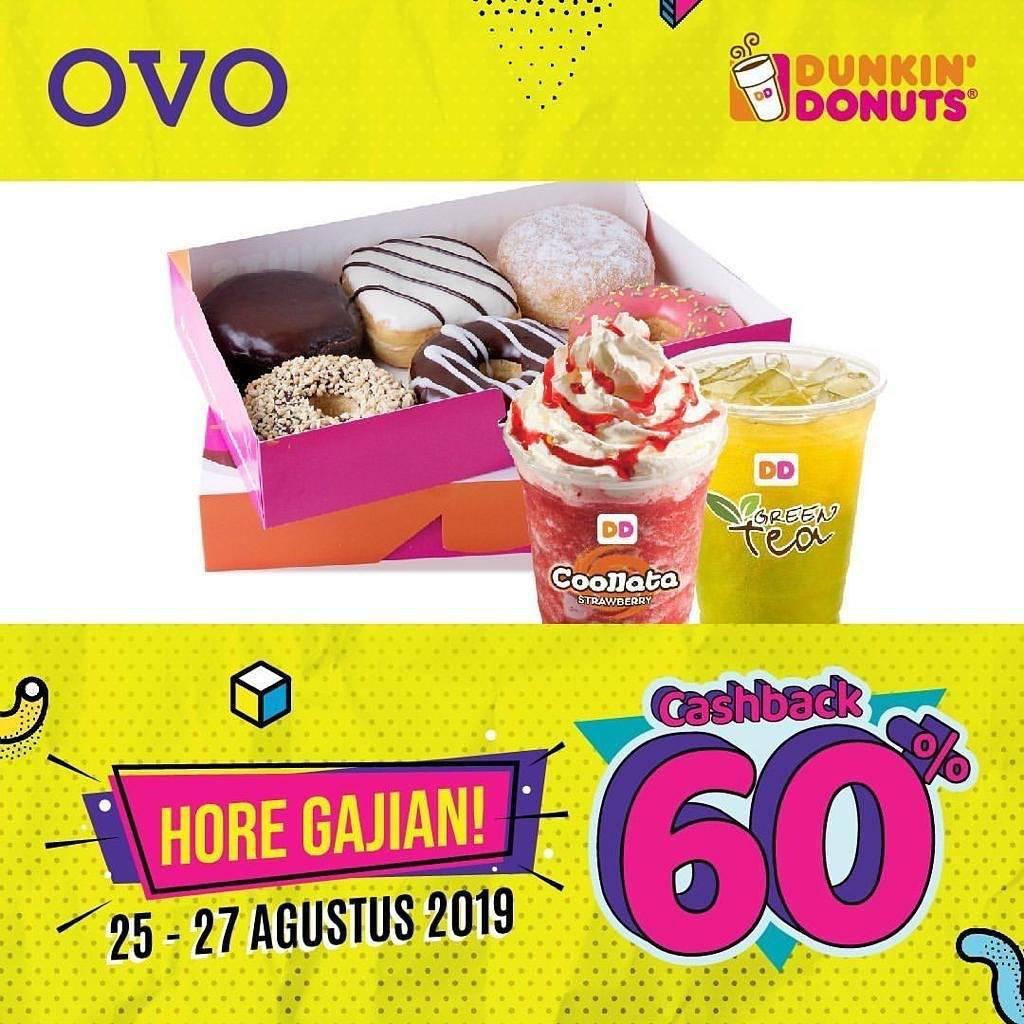 Diskon Dunkin Donuts Promo Cashback 60% dengan OVO