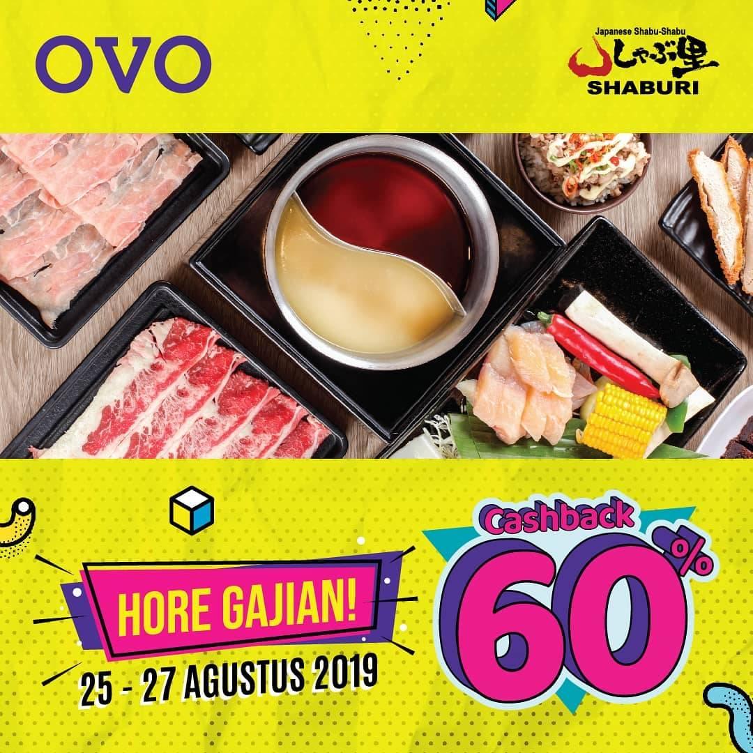 Shaburi Promo Cashback 60% dengan OVO