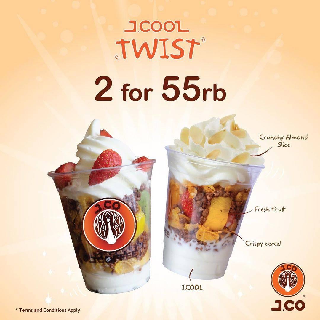 JCO Promo 2 JCOOL TWIST hanya Rp. 55.000