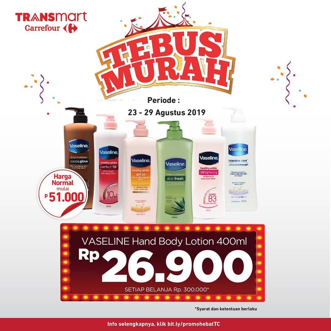 Diskon Transmart Carrefour Promo Tebus Murah VASELINE Hanya Rp 26.900