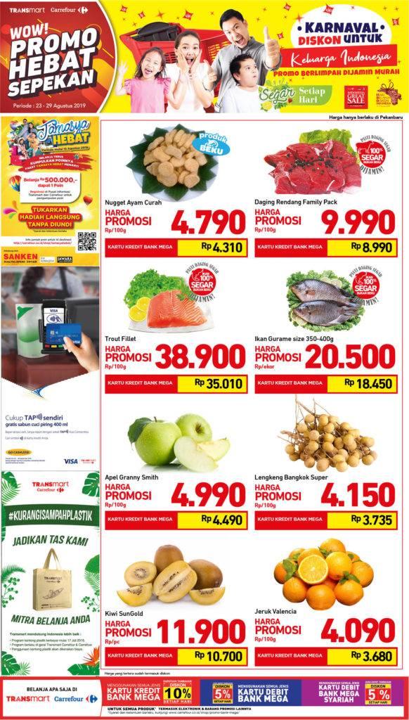 Promo diskon Transmart Carrefour Promo Produk Fresh Akhir Pekan periode 23-29 Agustus 2019