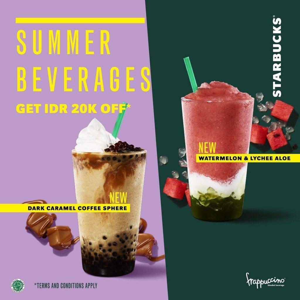 STARBUCKS Promo Diskon Rp. 20.000 untuk Minuman Summer Terbaru