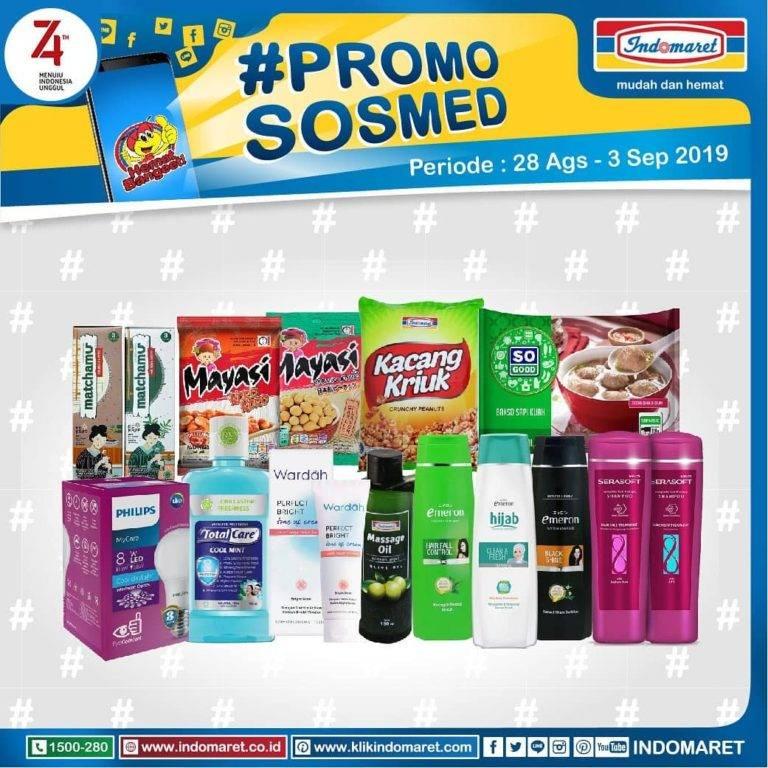 Diskon INDOMARET Katalog Promo Sosmed periode 28 Agustus – 01 September 2019