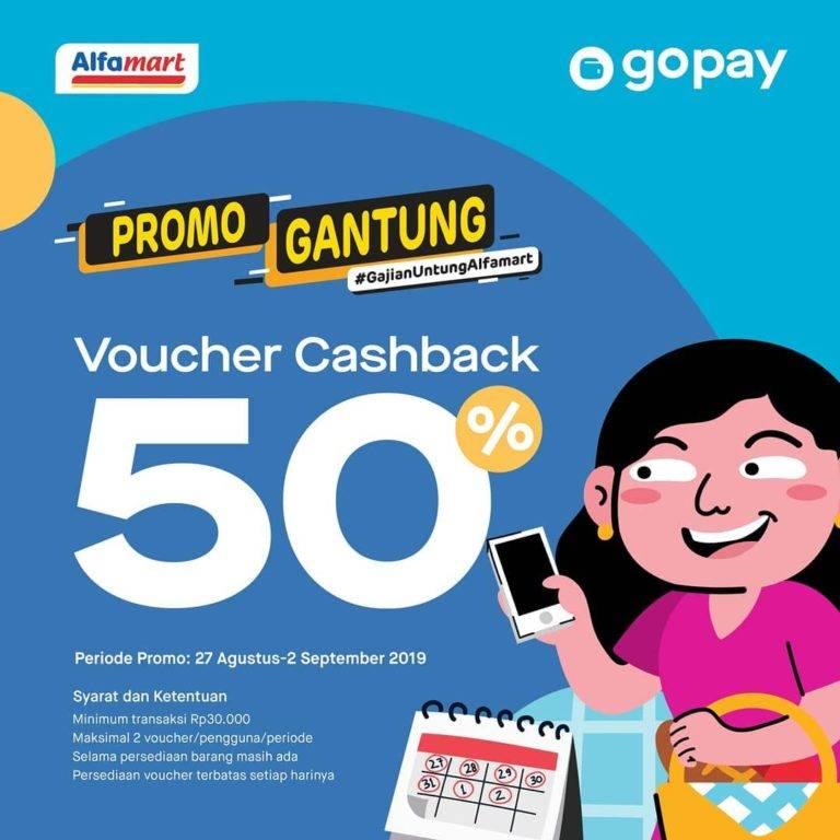 ALFAMART Promo Cashback hingga 50% dengan GO-PAY