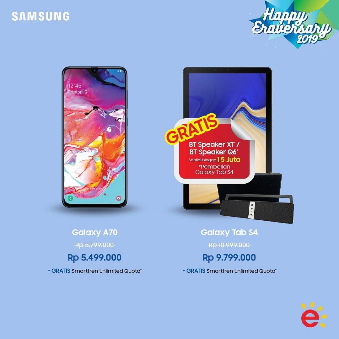 Promo diskon ERAFONE Promo Harga Spesial untuk Samsung Galaxy A70 dan Samsung Galaxy Tab S4