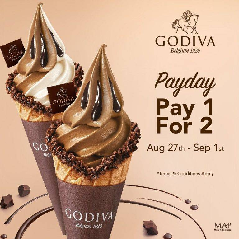 Godiva Promo Pay 1 For 2