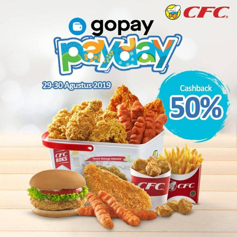CFC Promo Gopay Payday Cahsback Up to 50%