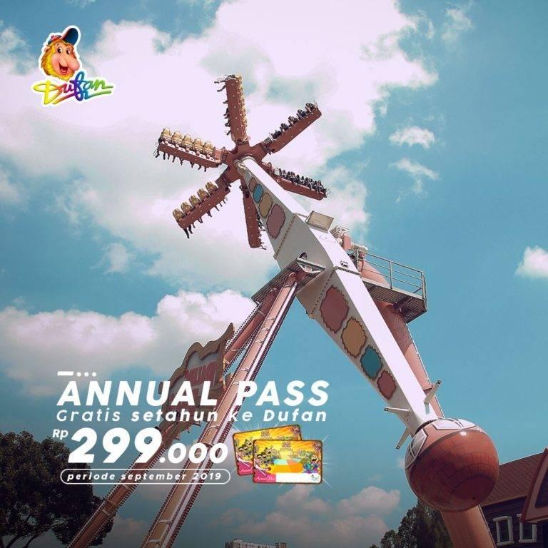 Diskon DUFAN Promo Annual Pass Gratis Main ke DUFAN Setahun Hanya Rp. 299.000*