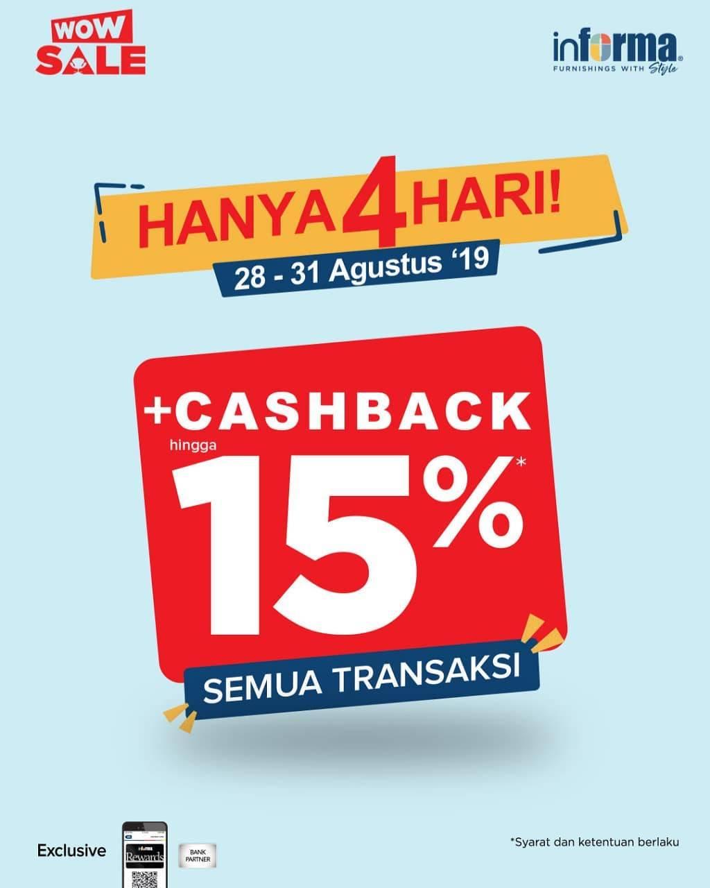Informa Promo Cashback Hingga 15%