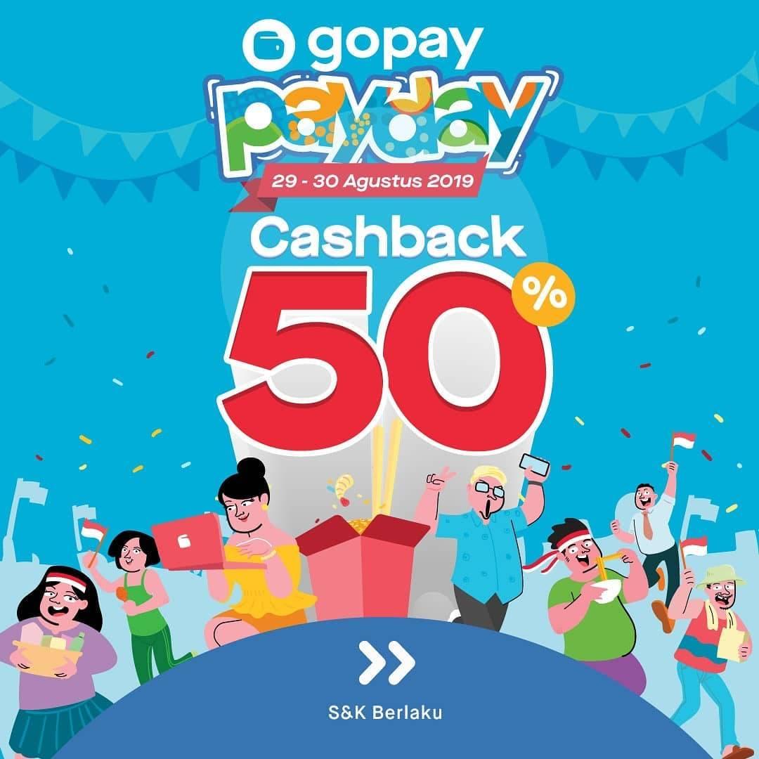 GO-PAY PAYDAY Promo, Bayar Pakai Go-Pay* Dapat CASHBACK hingga 50%