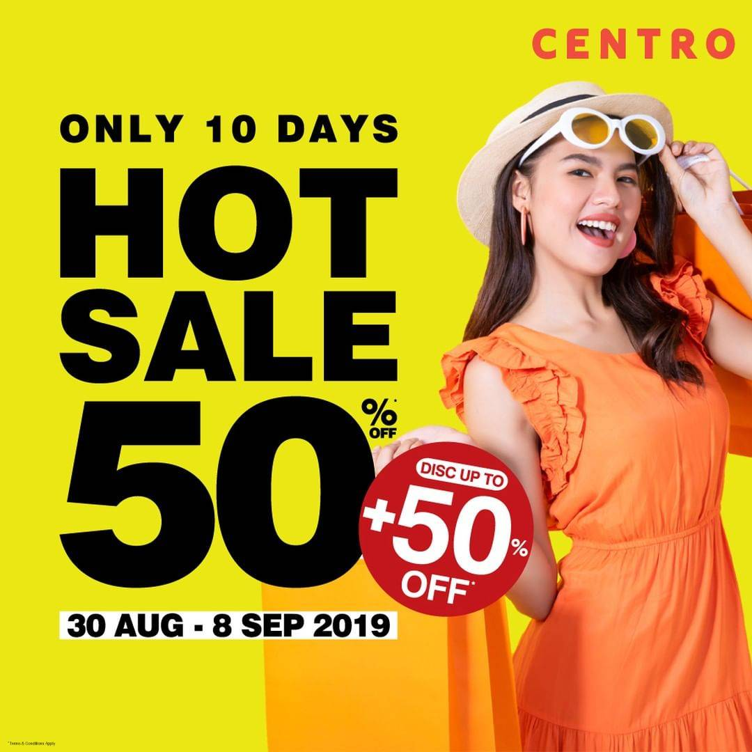 Diskon Centro dan Parkson HOT SALE DISKON up to 50% + UP TO 50% OFF