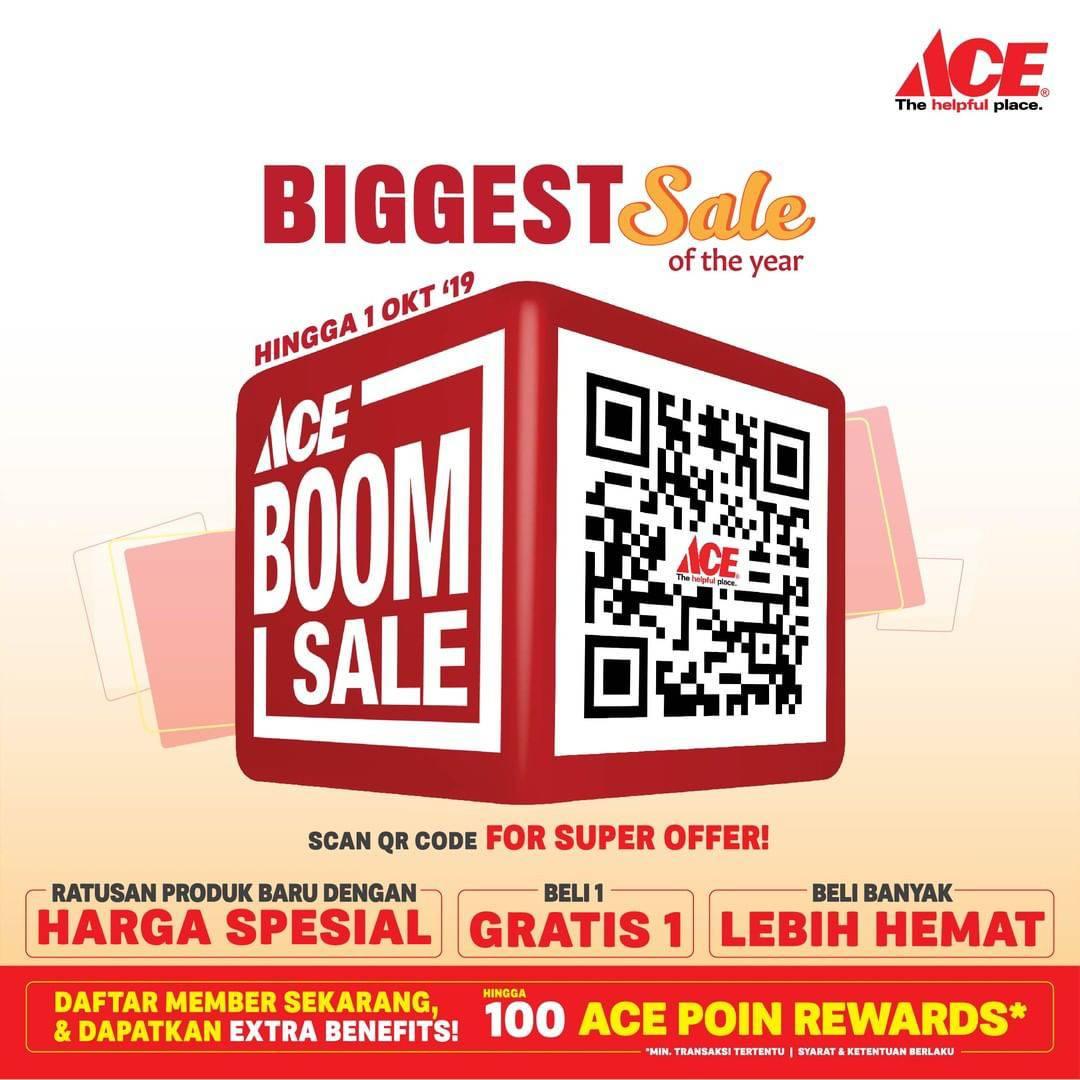 ACE BOOM SALE, HEMAT hingga 50%