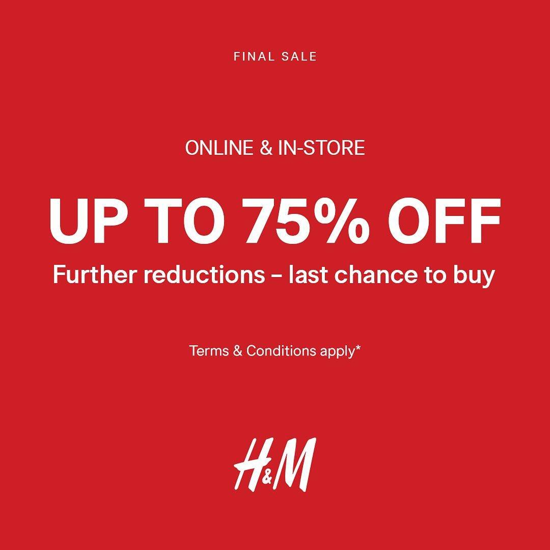 Diskon Promo H&M Discount Up To 75% Off