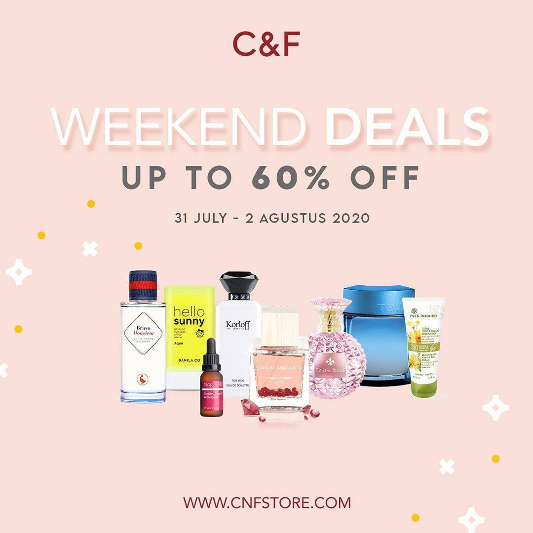 Diskon Promo C&F Special Weekend Deals Up To 60% Off