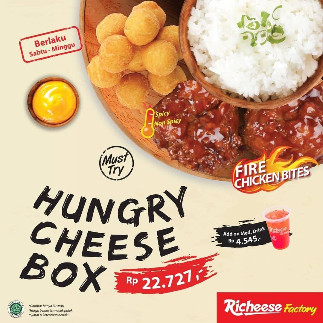 Diskon Promo Richeese Factory Harga Spesial Hungry Cheese Box Hanya IDR. 22.727