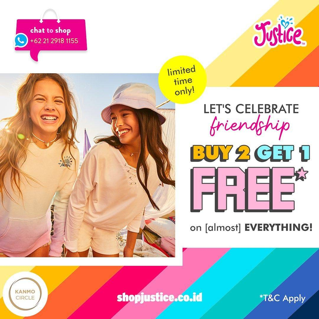 Diskon Promo Justice Buy 2 Get 1 Free On Almost Everything