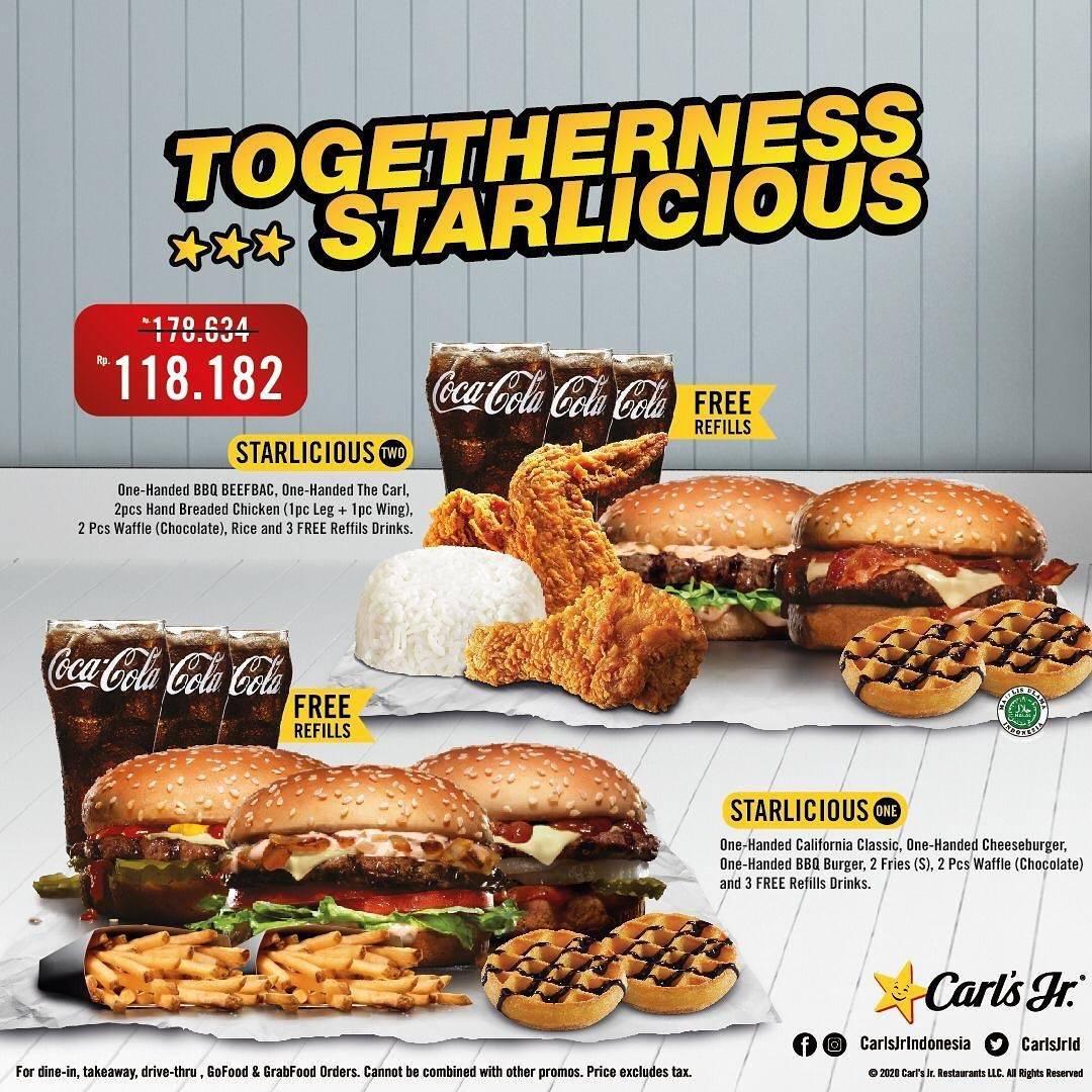Diskon Promo Carls Jr Paket Togetherness Starlicious Dengan Harga Rp. 118.182