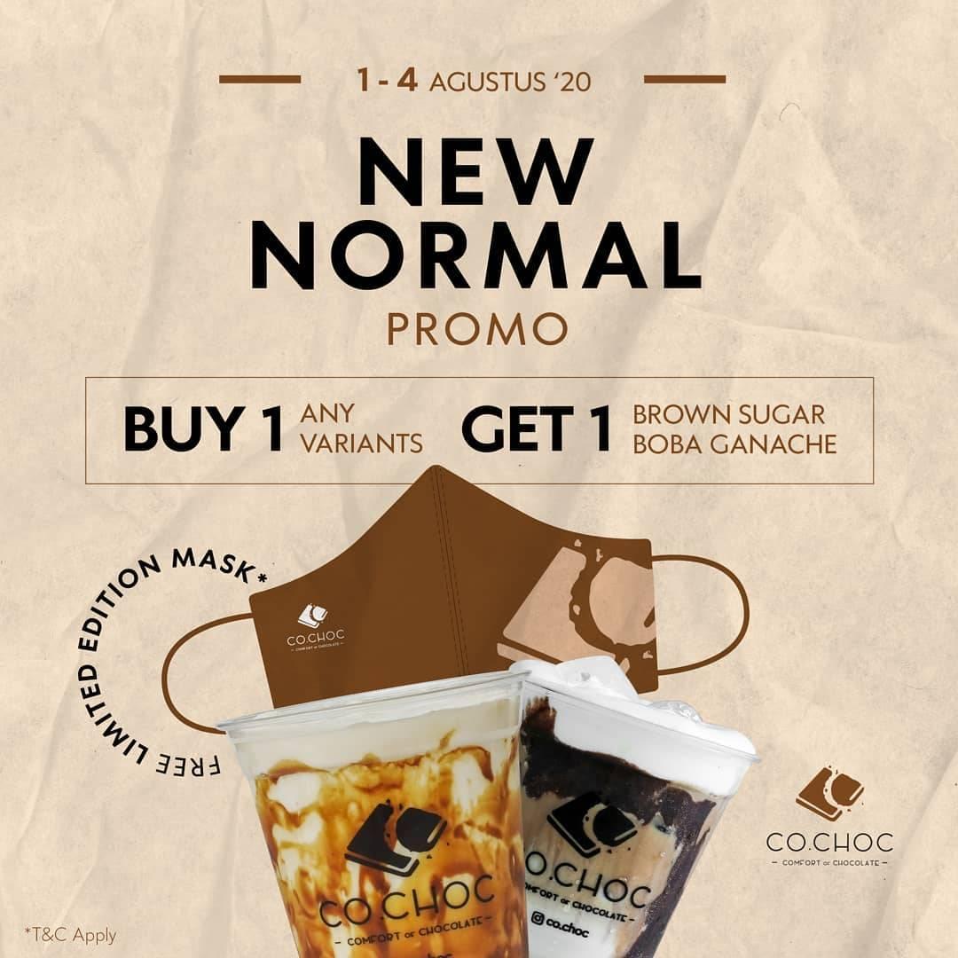 Diskon Promo Co.Choc Buy 1 Varian Apapun Gratis 1 Brown Sugar Boba Ganache + Limited Mask
