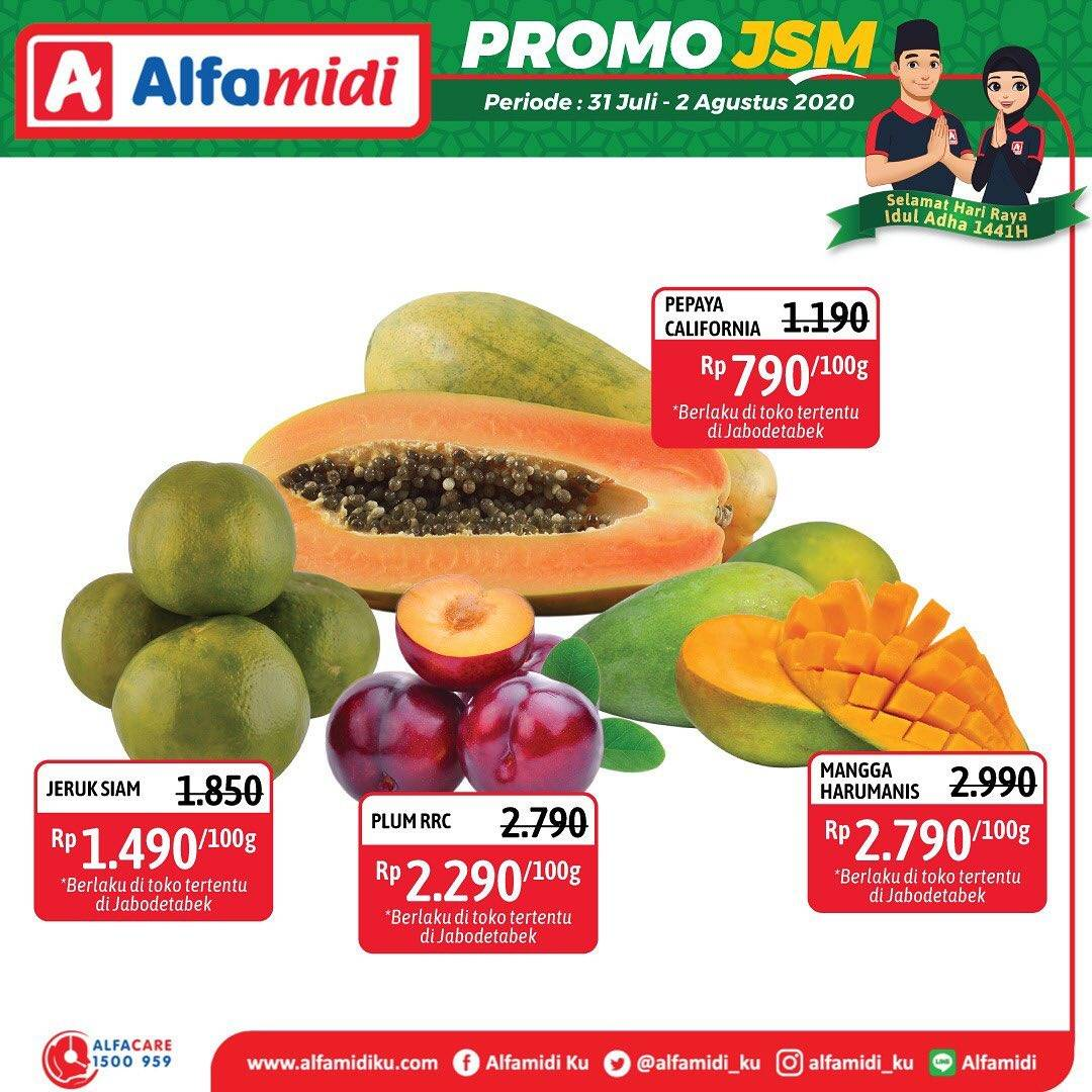 Diskon Katalog Promo Alfamidi JSM Terbaru Periode 31 Juli - 2 Agustus 2020