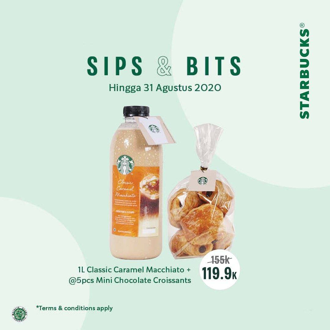 Diskon Starbucks Promo Sips & Bits