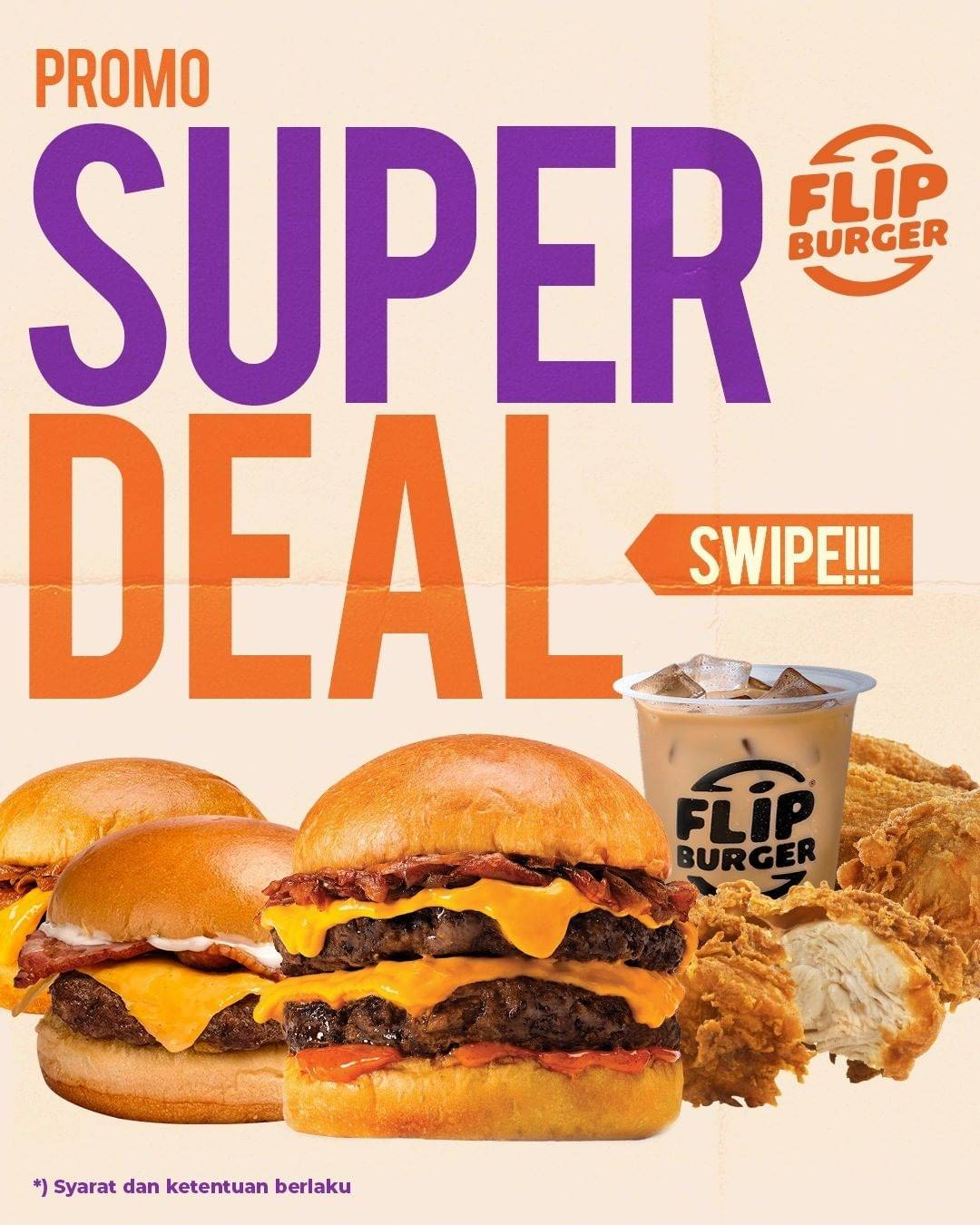 Diskon Flip Burger Promo Super Deal