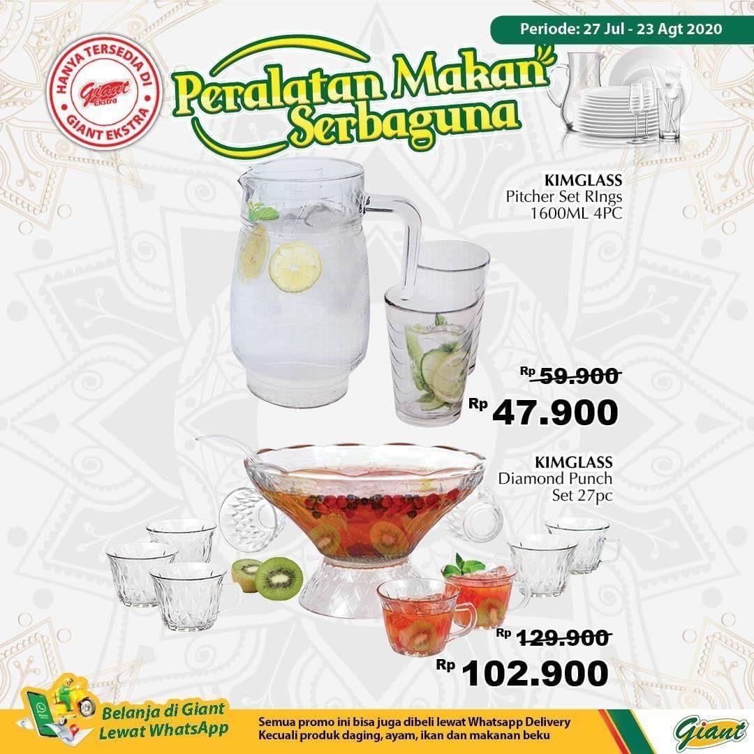 Diskon Katalog Promo Giant Peralatan Makan Serbaguna Periode 27 Juli - 23 Agustus 2020