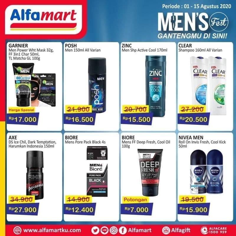 Diskon Katalog Promo Alfamart MEN'S FEST Periode 1 - 15 Agustus 2020