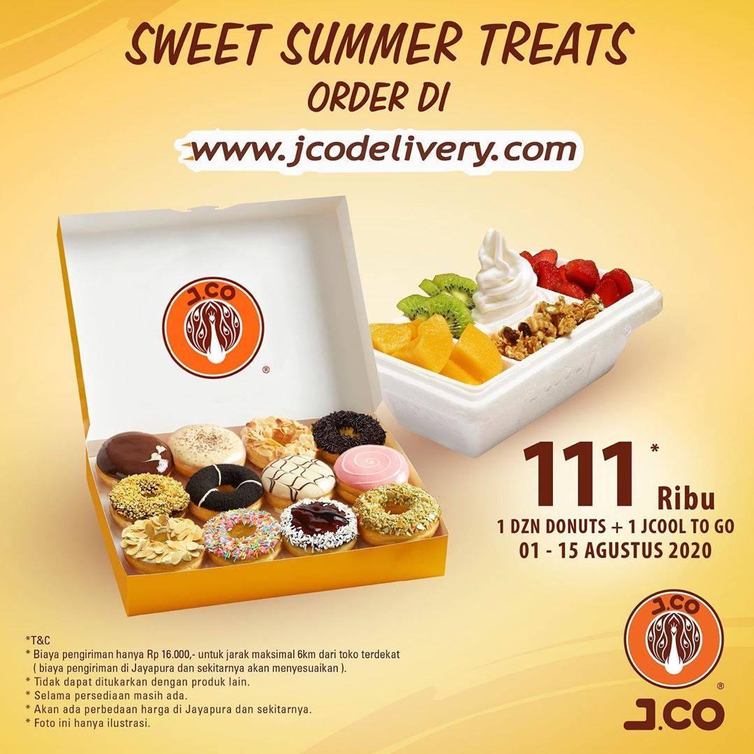 Diskon Promo JCO Harga Spesial 1Dzn Donuts + 1 JCool To Go Hanya Rp. 111.000
